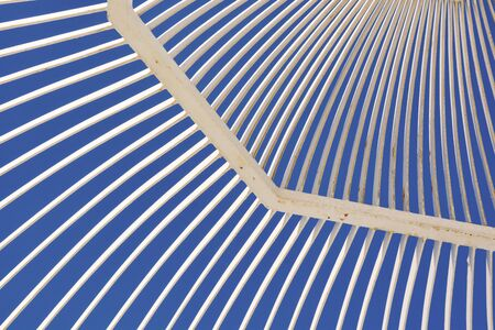 Abstract Architecture design on a blue sky background.