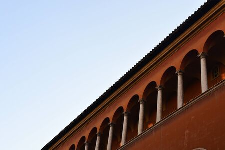 Classic European Building Architecture in Rome, Italy