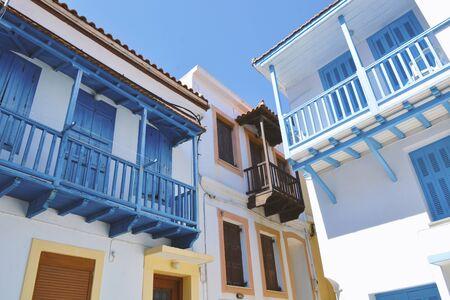 Classic Houses Exterior in Skopelos Island, Greece