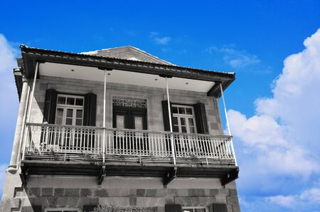 Traditional Cypriot House in Clear Blue Sky