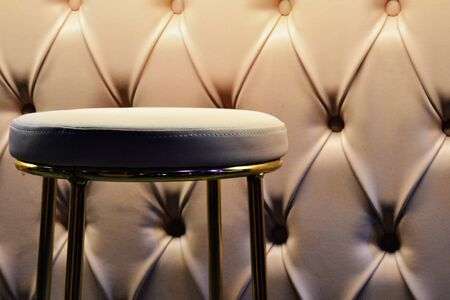 Luxurious Modern Bar Stool in White Leather