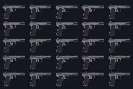 Pattern of WWII German army handgun on dark grey background 版權商用圖片