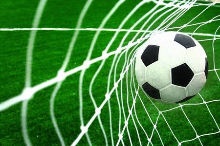 soccerfield: voetbal Stockfoto
