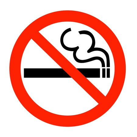 prohibition signs: no smoking