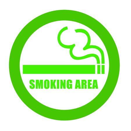 allowed: smoking area