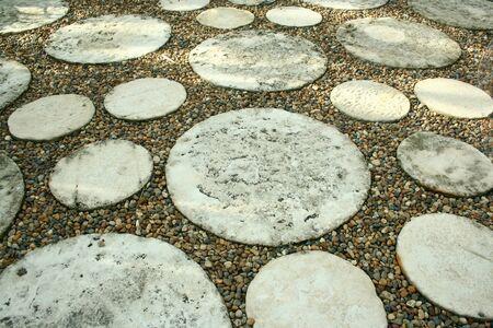 pave: walk way in garden