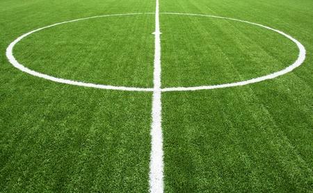 field  soccer: l�nea en el campo de f�tbol Foto de archivo