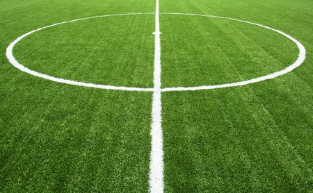 line on soccer field photo