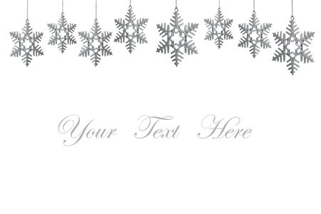 snowflakes decorations isolated on white background for message Stock Photo - 10607445