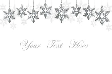 snowflakes decorations isolated on white background for message  Stock Photo - 10607486