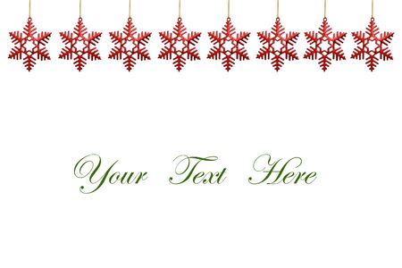 snowflakes decorations isolated on white background for message  Stock Photo - 10607501