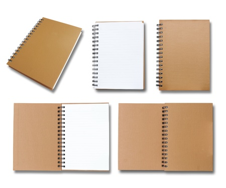 Brown note book collection  Stock Photo - 10607864