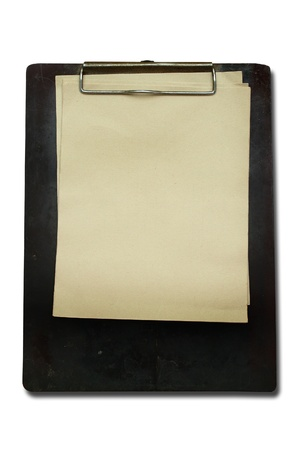 Old Clip board with old paper  photo
