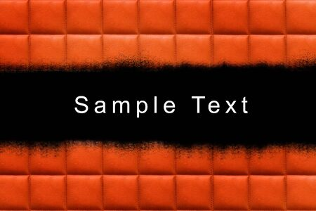 leather upholstery texture background with sample text area  photo