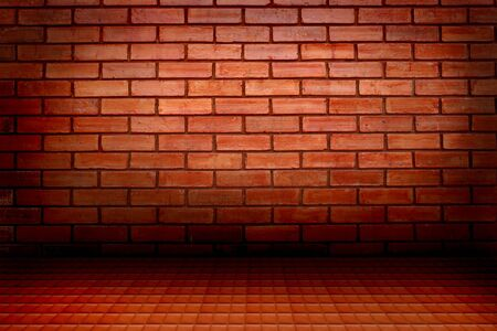 brick wall and floor  photo