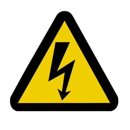 triangular warning sign: High voltage warning sign