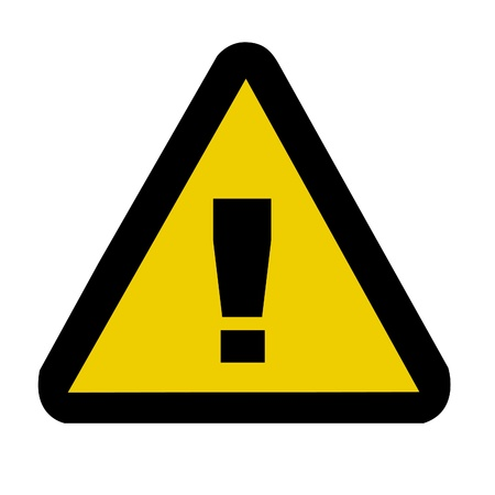 triangular warning sign: Warning danger sign