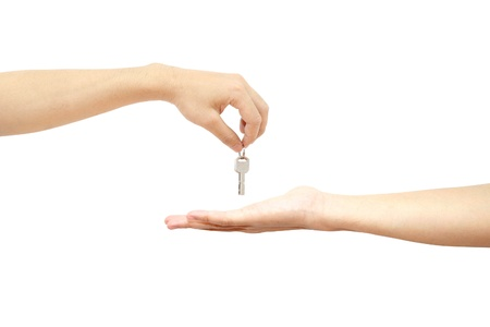 hand over: Giving key