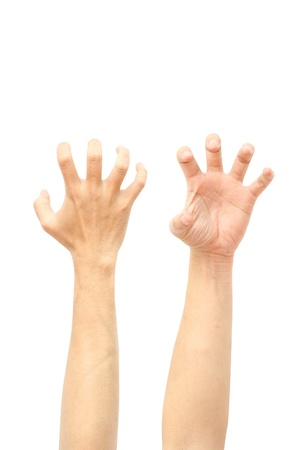 clawing: hands Stock Photo