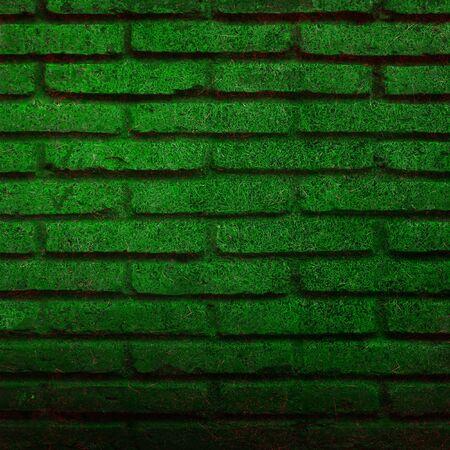 Green brick wall  photo