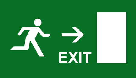 sortir: pictogramme sortie de secours