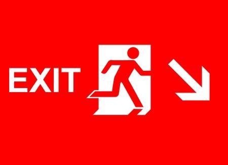 salida de emergencia: señalización de emergencia