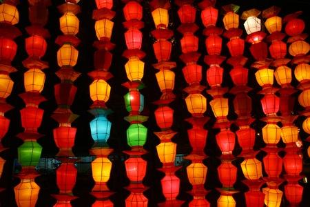 golden dusk: chinese paper lantern