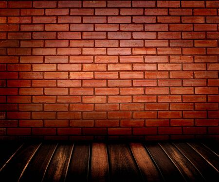 brick wall and wooden floor  photo