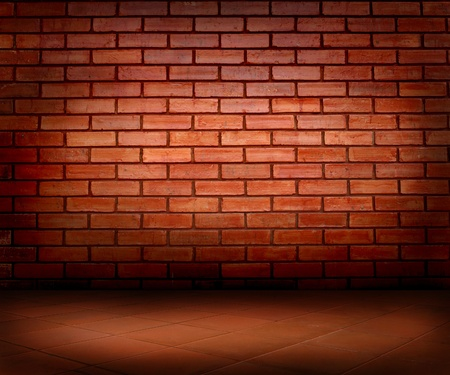brick wall and floor Stock Photo - 10608867