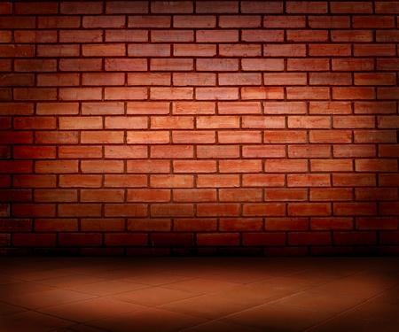 brick: Ziegel Wand und Boden