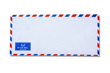 letter envelope: White Vintage Envelope