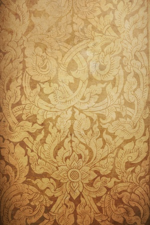 thai pattern old paper photo
