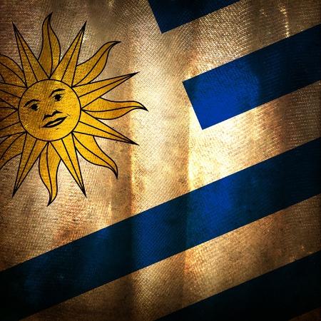 bandera de uruguay: La bandera del grunge antiguo de Uruguay