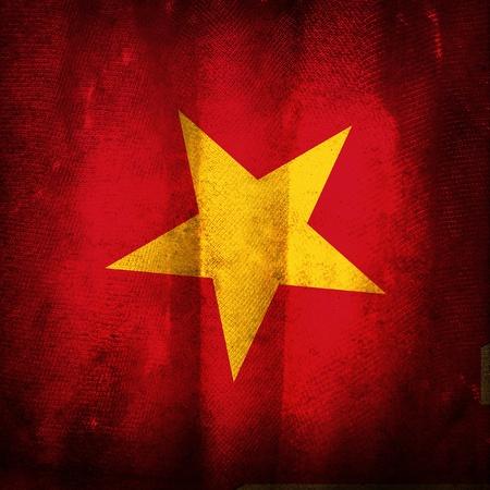 vietnam flag: Old grunge flag of Vietnam