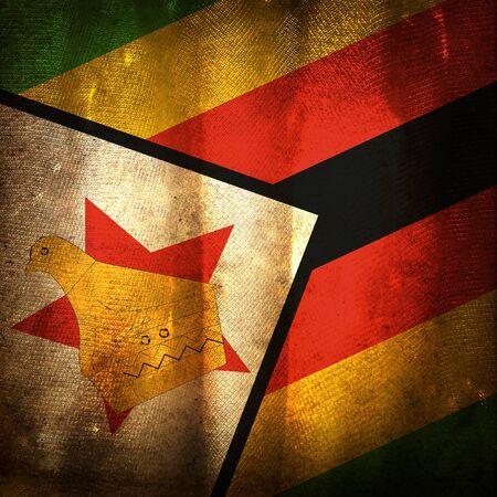 zimbabwe: La bandera del grunge antiguo de Zimbabwe