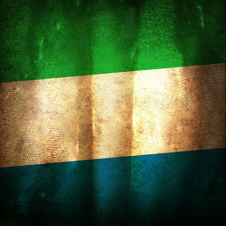 Old grunge flag of Sierra leone Stock Photo - 10743900