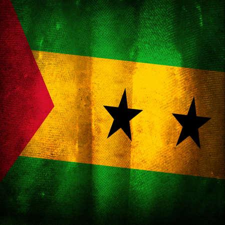 principe: La bandera del grunge antiguo de Santo Tomé y Príncipe