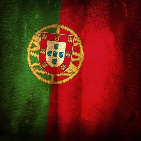 drapeau portugal: Drapeau grunge Vieux du Portugal Banque d'images