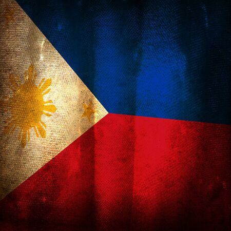 philippines: Old grunge flag of philippines
