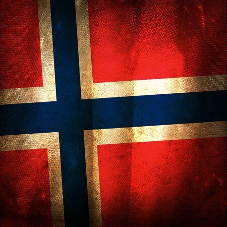 La bandera del grunge antiguo de Noruega Foto de archivo