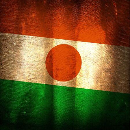 niger: Old grunge flag of niger