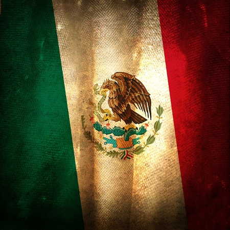 bandera mexicana: La bandera del grunge antiguo de M�xico