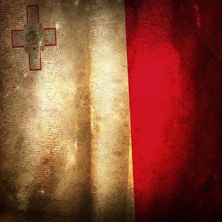 malta: Old grunge flag of malta Stock Photo
