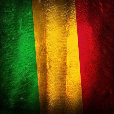 mali: Old grunge flag of mali