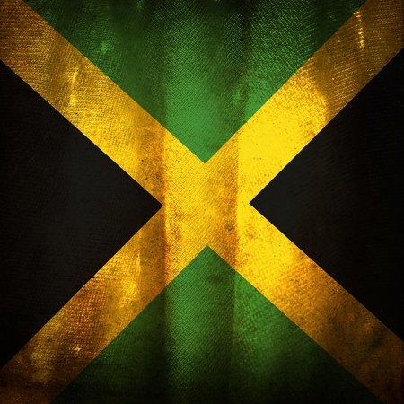 jamaican: Old grunge flag of Jamaica
