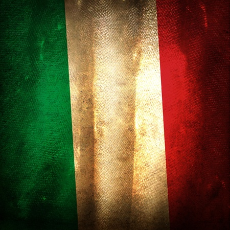 italy flag: Old grunge flag of Italy