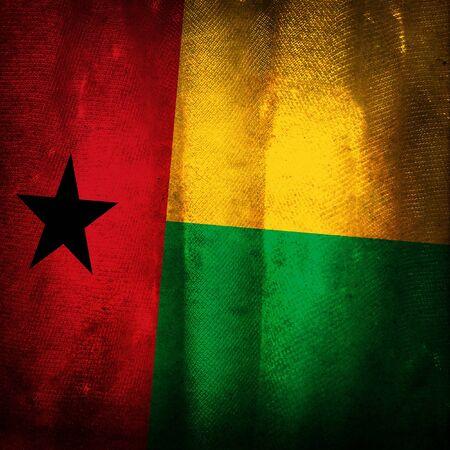 guinea bissau: Old grunge flag of Guinea bissau