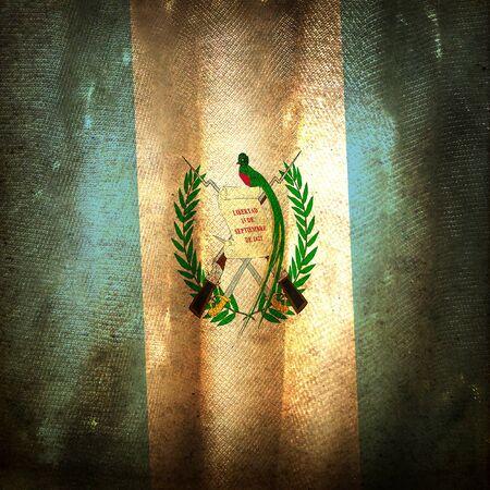 Old grunge flag of Guatemala photo