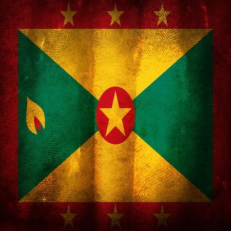 grenada: Old grunge flag of Grenada Stock Photo