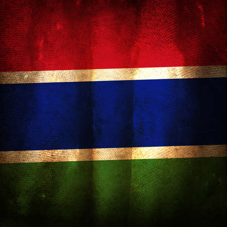 gambia: Old grunge flag of Gambia